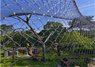 Zoo Stainless Steel Wire Mesh Fencing 7*7  7*19 With Various Specifications